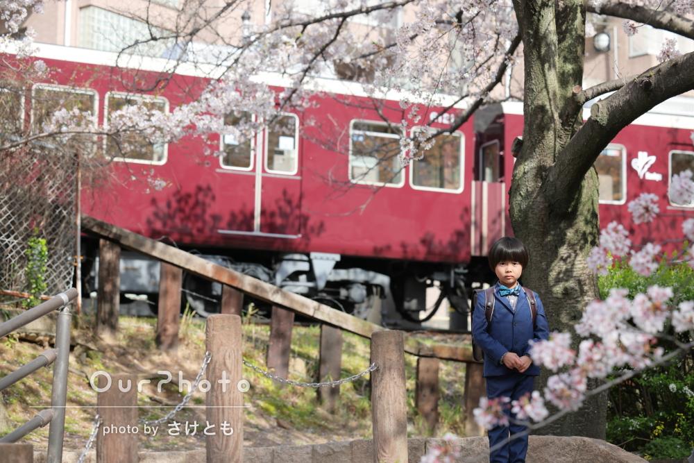 「桜満開の時期、普段無いカットの写真で大変満足です」家族写真の撮影