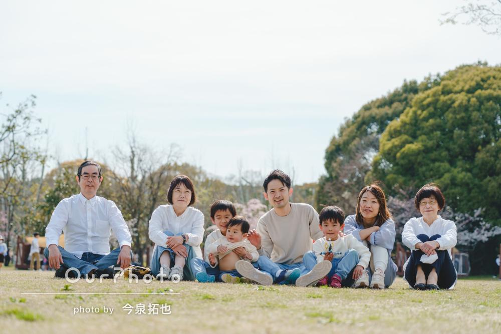 「毎年の家族写真をぜひお願いしたいです!」賑やかな家族写真の撮影