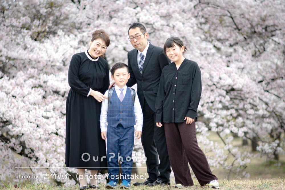 「普段の雰囲気の中撮って頂きありがとうございました」家族フォトの撮影