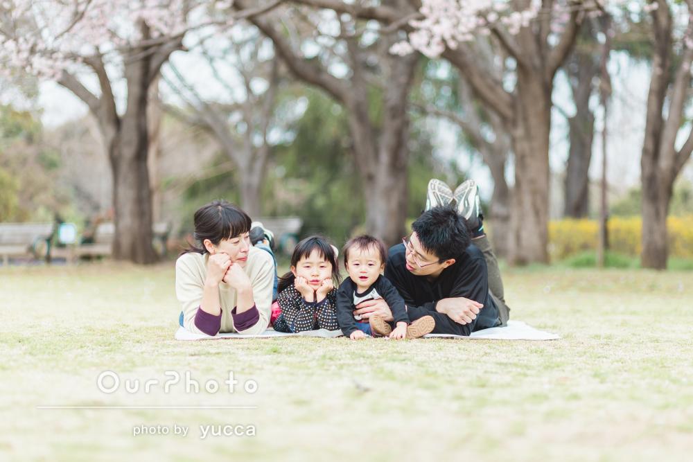 「ドキドキしていましたが、あっという間の楽しい時間」家族写真の撮影
