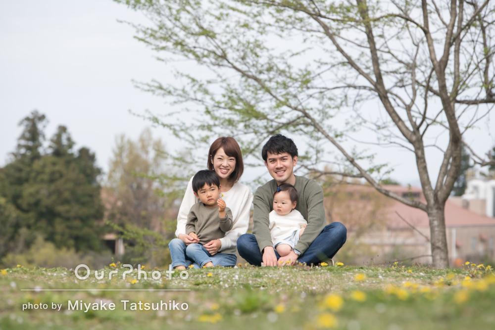 「素敵な写真をいっぱい撮ってくださり感謝してます」家族写真の撮影