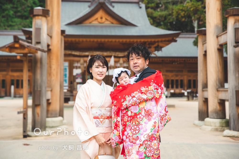 「私の両親も素敵な写真ばかりだととても喜んでくれ」お宮参り写真の撮影