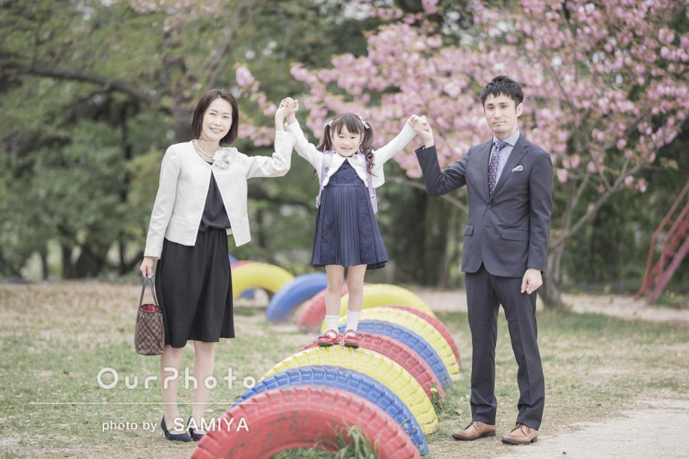 「優しい雰囲気の写真が沢山仕上がり嬉しい限り」入学式に家族写真の撮影