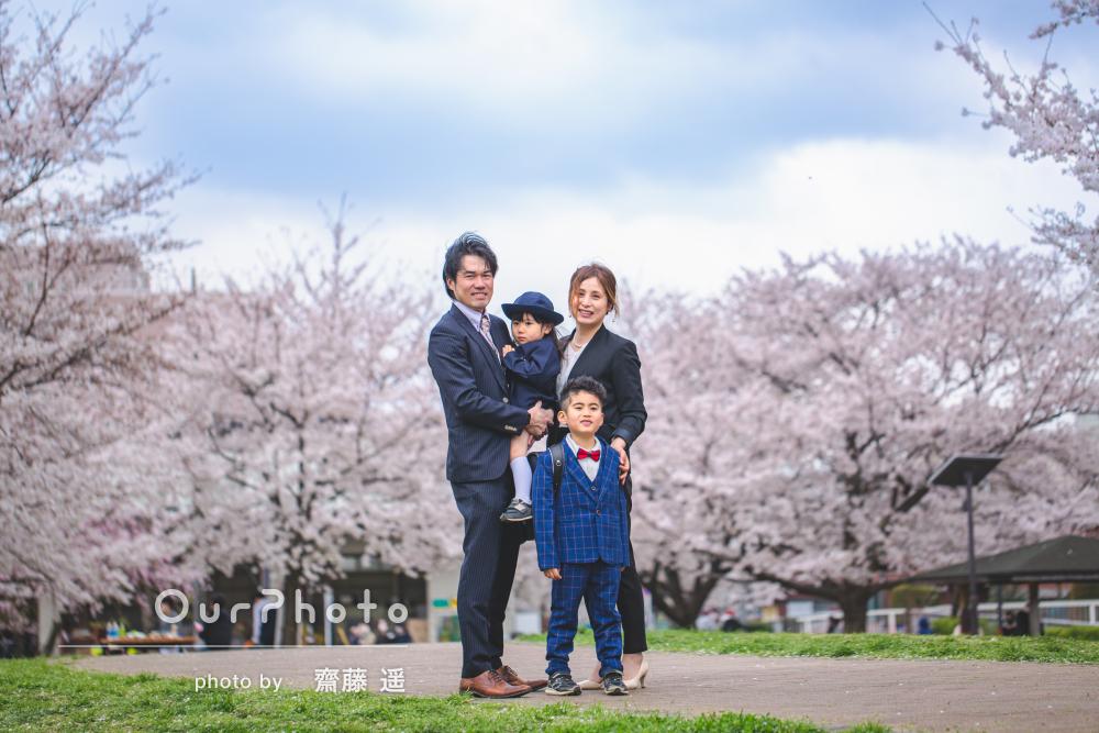 「素敵な写真が沢山」入学祝いにピカピカランドセルと家族写真の撮影