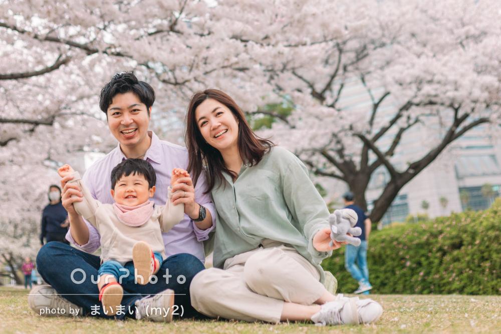 「柔らかく明るい雰囲気に仕上がって」1歳半記念に家族写真の撮影