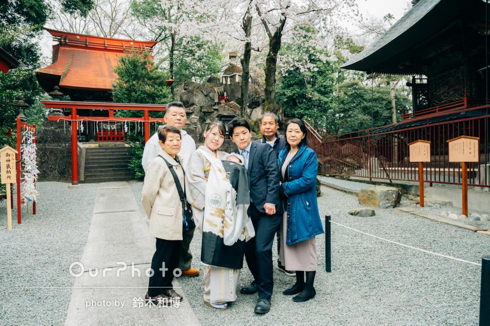 「大変満足のいく形となりました」自宅と神社で男の子のお宮参りの撮影