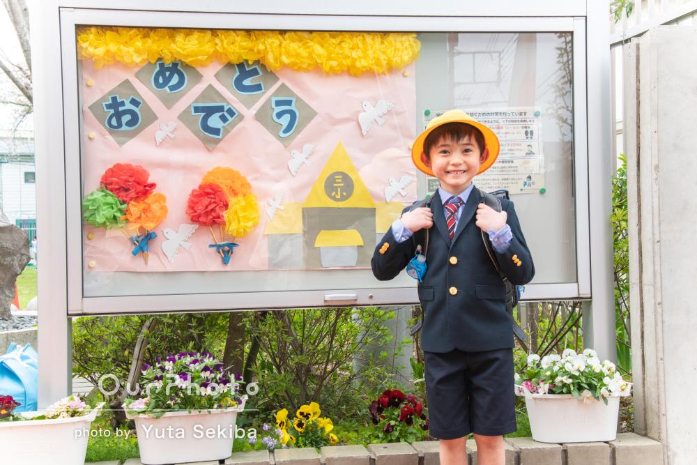 「大満足です」入学式当日の臨場感あふれる素晴らしい家族写真の撮影