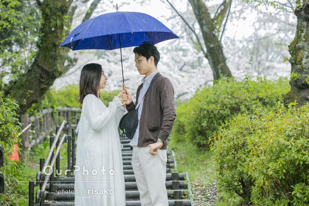 「とても親身になってくださいました」雨の日のマタニティフォトの撮影
