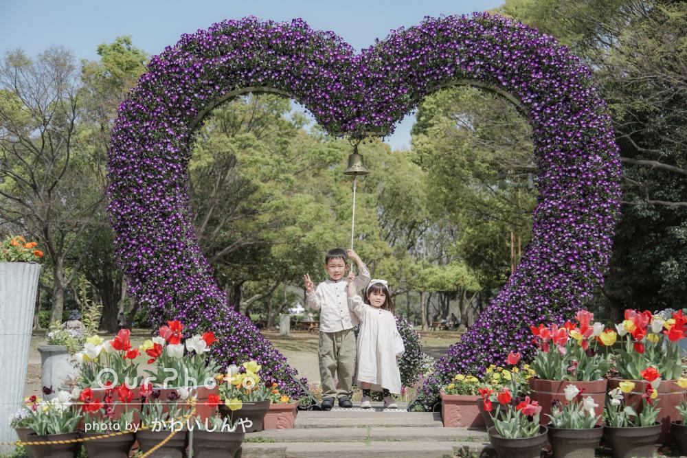 「すぐにでもお願いしたいくらいです」たくさんのお花で家族フォトの撮影