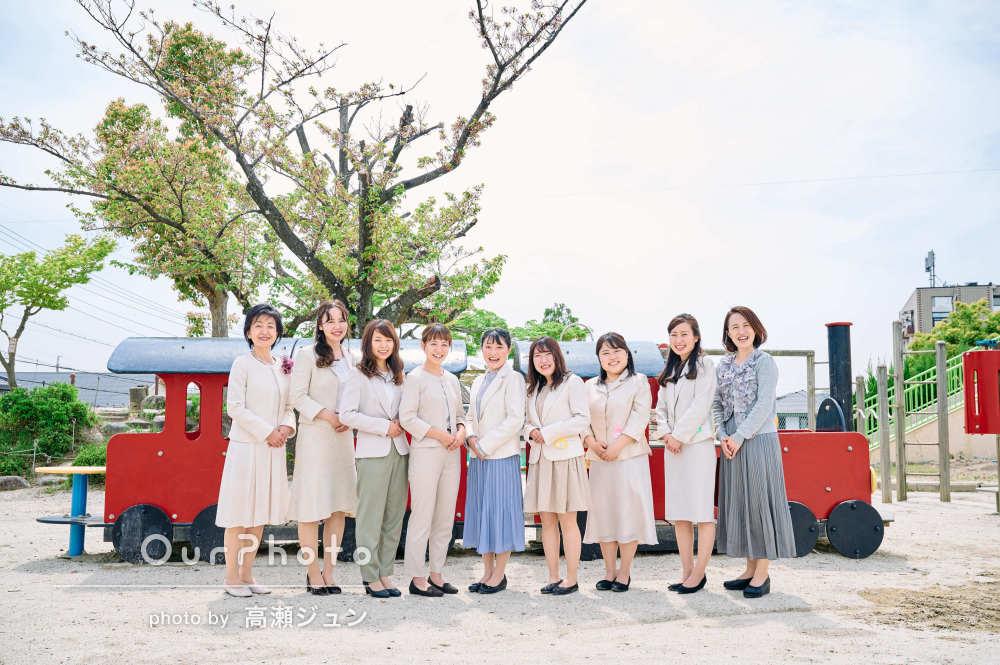 「ナチュラルで、透明な笑顔」明るく優しい雰囲気な幼稚園の先生方の撮影