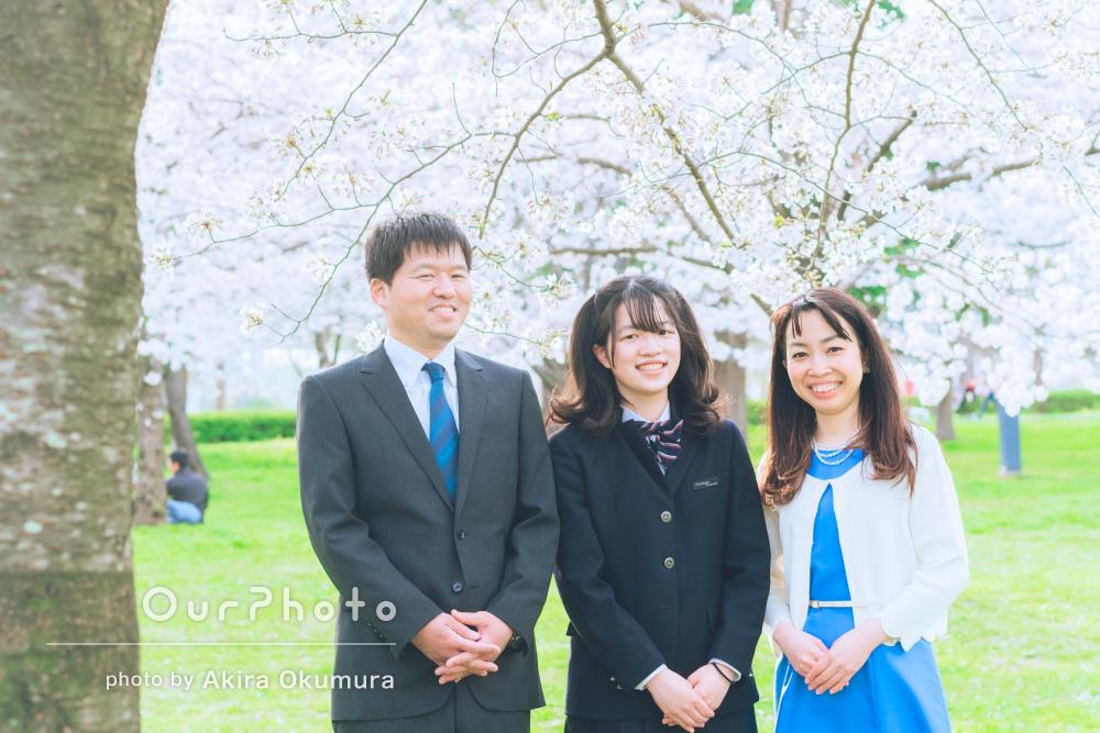 「どれも良い表情の写真ばかりでとても良い記念」家族写真の撮影