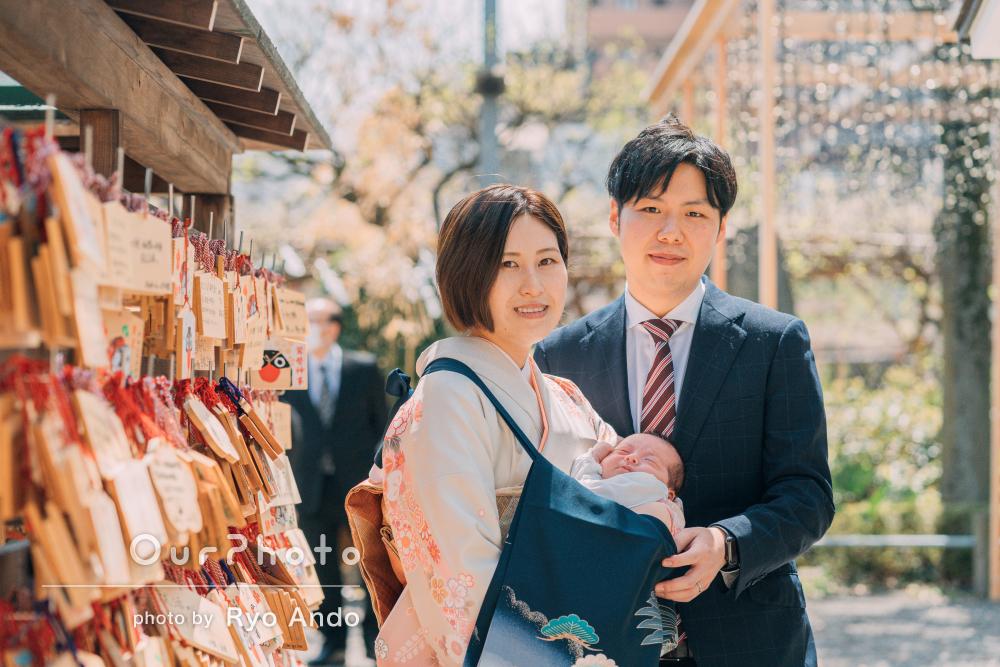 「写真の質感も大満足です!」明るい日差しの中でのお宮参りの撮影