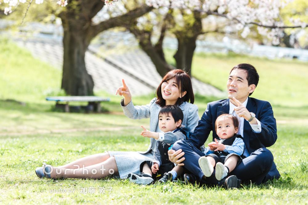 「息子の入園式の記念に、すてきな思い出ができました」家族写真の撮影