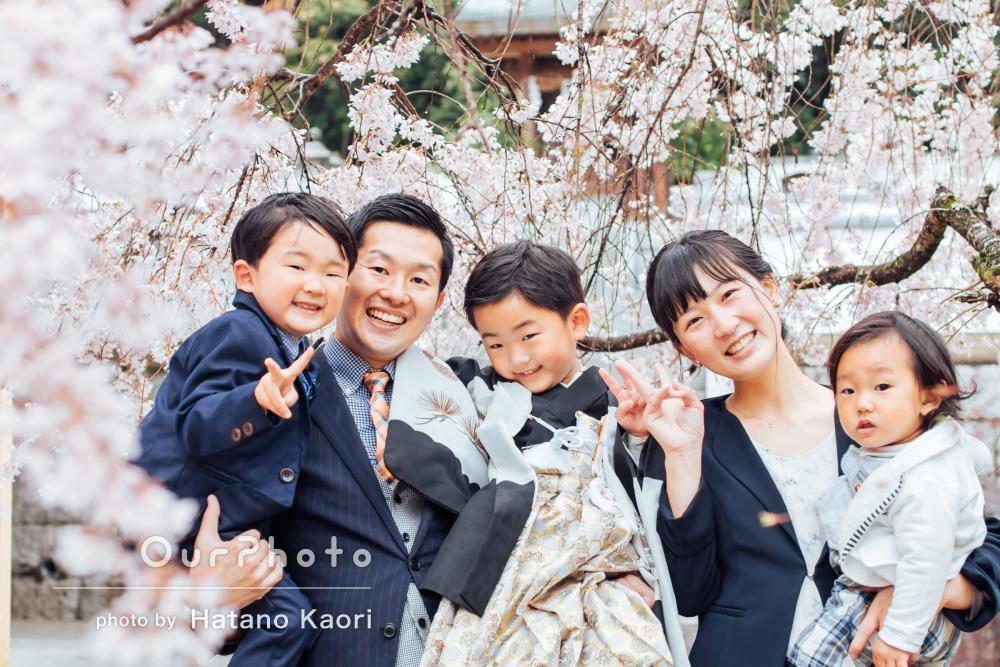 「家族の仲のいい場面を切り取って頂き、とても素敵」七五三写真の撮影