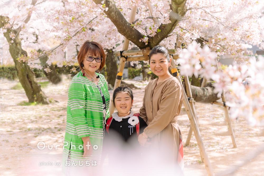 「一生の思い出になりました」さくらの木の下で家族フォトの撮影