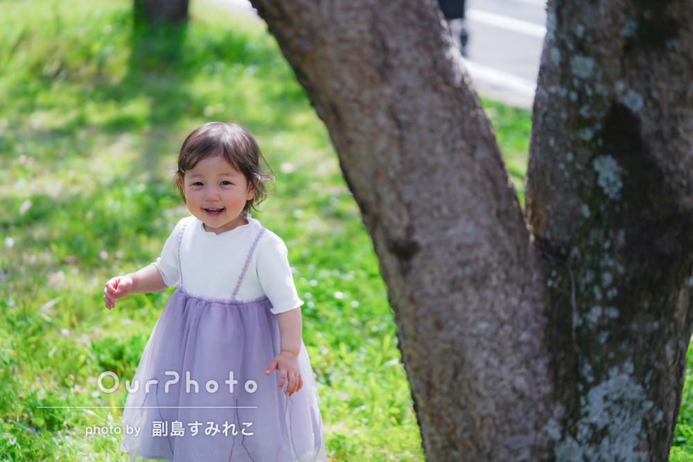 「一歳の記念としてとても良い思い出になりました!」家族フォトの撮影