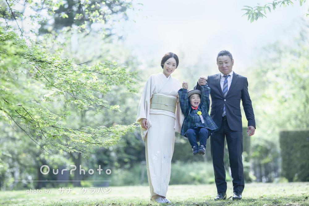 「いい提案をしていただき絵になる写真」水彩画のような家族写真の撮影