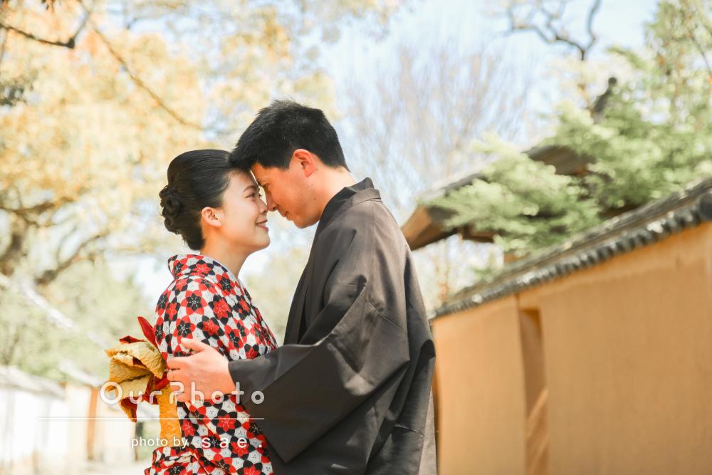 「とても楽しく撮影時間が過ごせました」和装でカップル写真の撮影