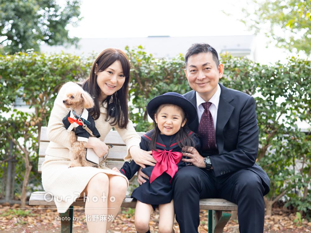 「今しか撮れない思い出がたくさん残せました」制服姿で家族写真の撮影