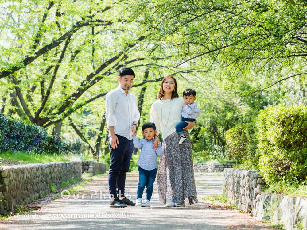 「丁寧に対応いただきありがたかったです」緑に囲まれた家族フォトの撮影