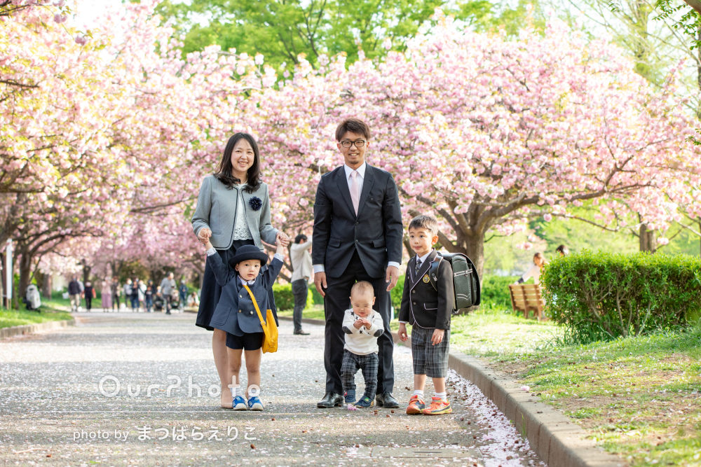 「仕上がりの画像もとても満足」入園入学のお祝いに家族写真の撮影