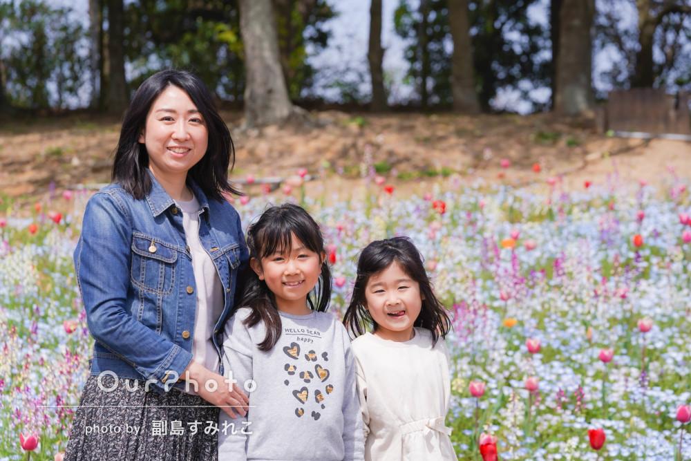 「子どもたちも写真を見てとても喜んでいます」入学記念に家族写真の撮影