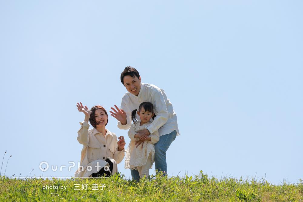 「娘もずっとご機嫌♪思い出に残る一日に」誕生日の家族写真撮影