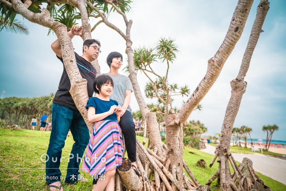 「何の不安もなく撮影していただけました」春のビーチで家族写真の撮影