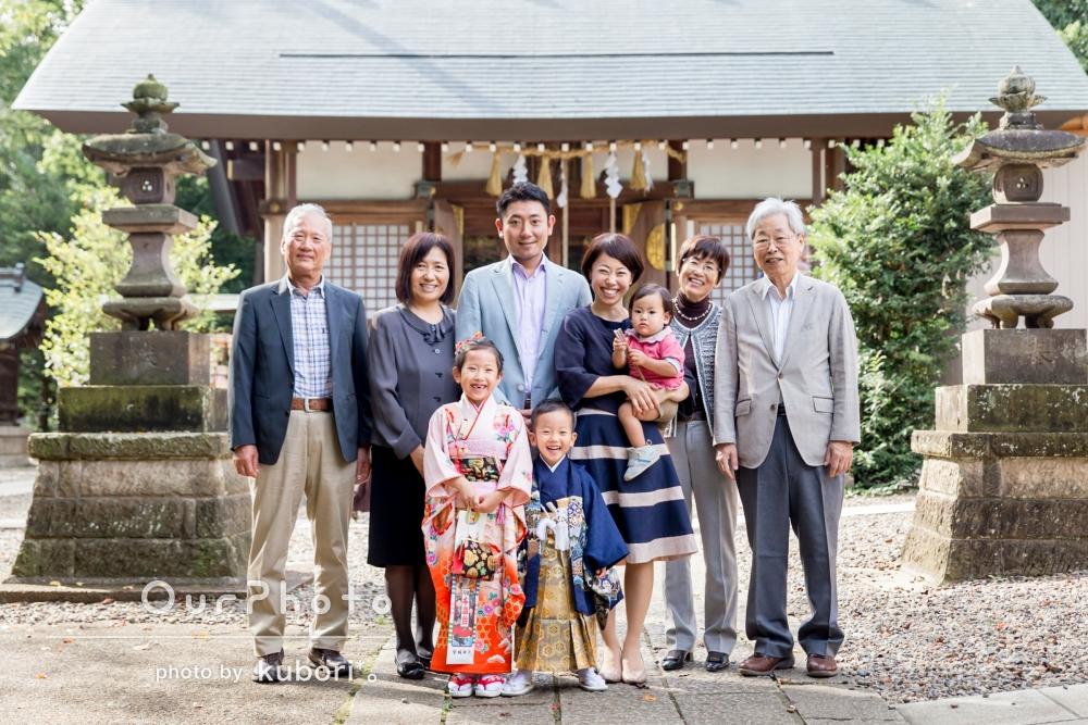 家族みんなが、とびっきりの笑顔!七五三の撮影