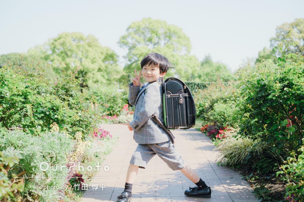 「やわらかい光につつまれたような綺麗な写真」小学校入学記念の撮影