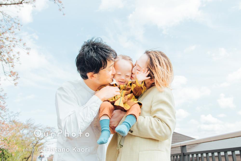 「素敵な写真がたくさんで大満足です」春らしい陽気の中家族写真の撮影