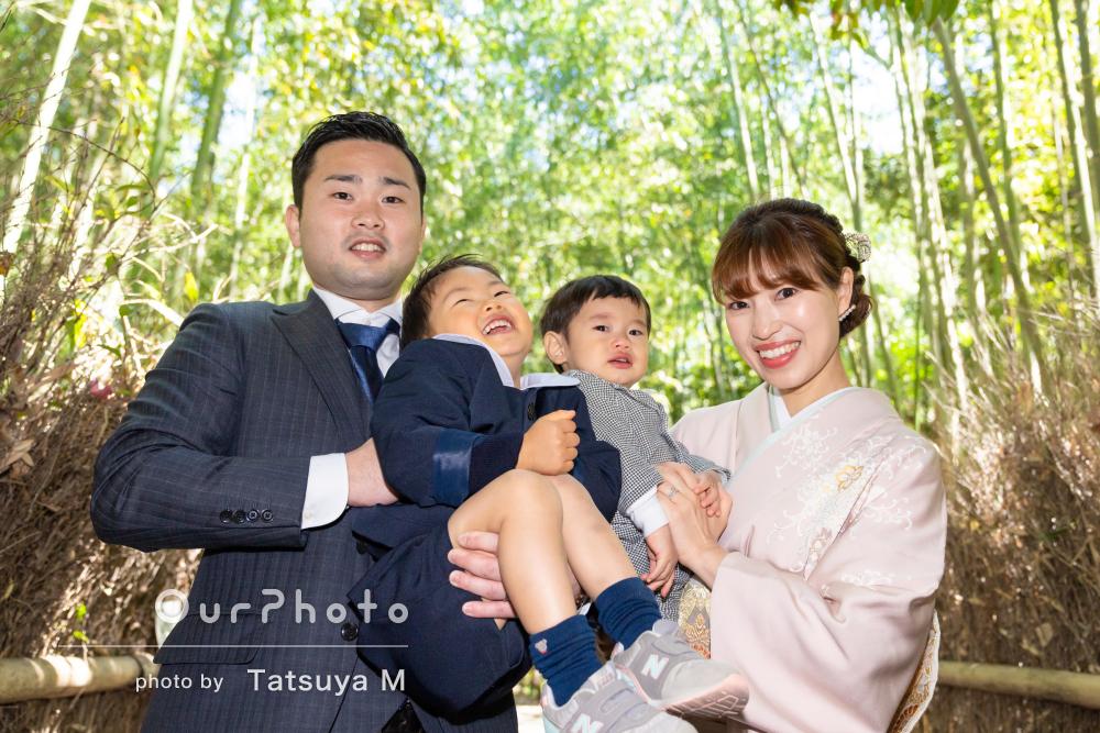 「とっても素敵な写真を撮って頂きました」入園と誕生日で家族フォト撮影
