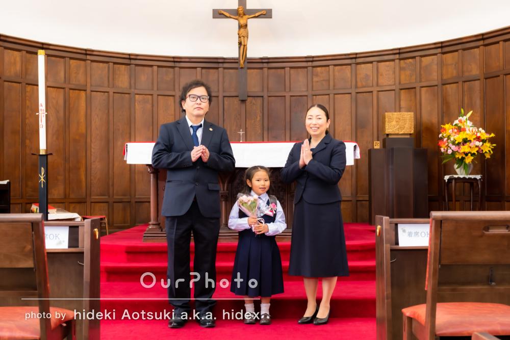 「とびっきりの笑顔がたくさん」入学式の記念日に家族写真の撮影