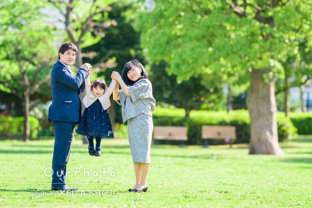 「大切な記念日の素敵な瞬間を切り撮っていただきました」家族写真の撮影