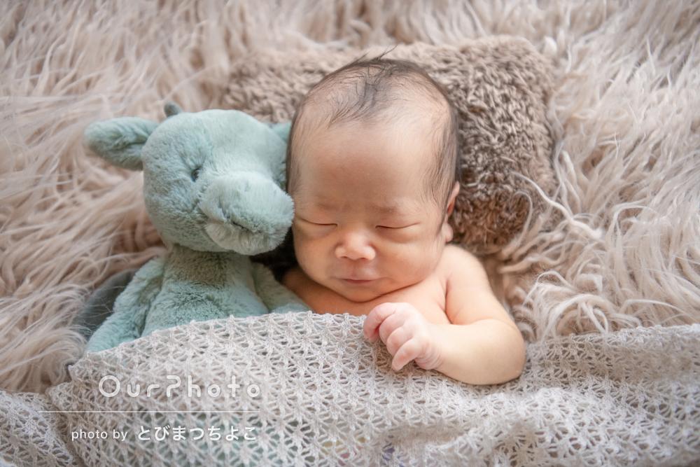 「大変親切に丁寧に対応頂けた」寝顔が可愛いニューボーンフォトの撮影