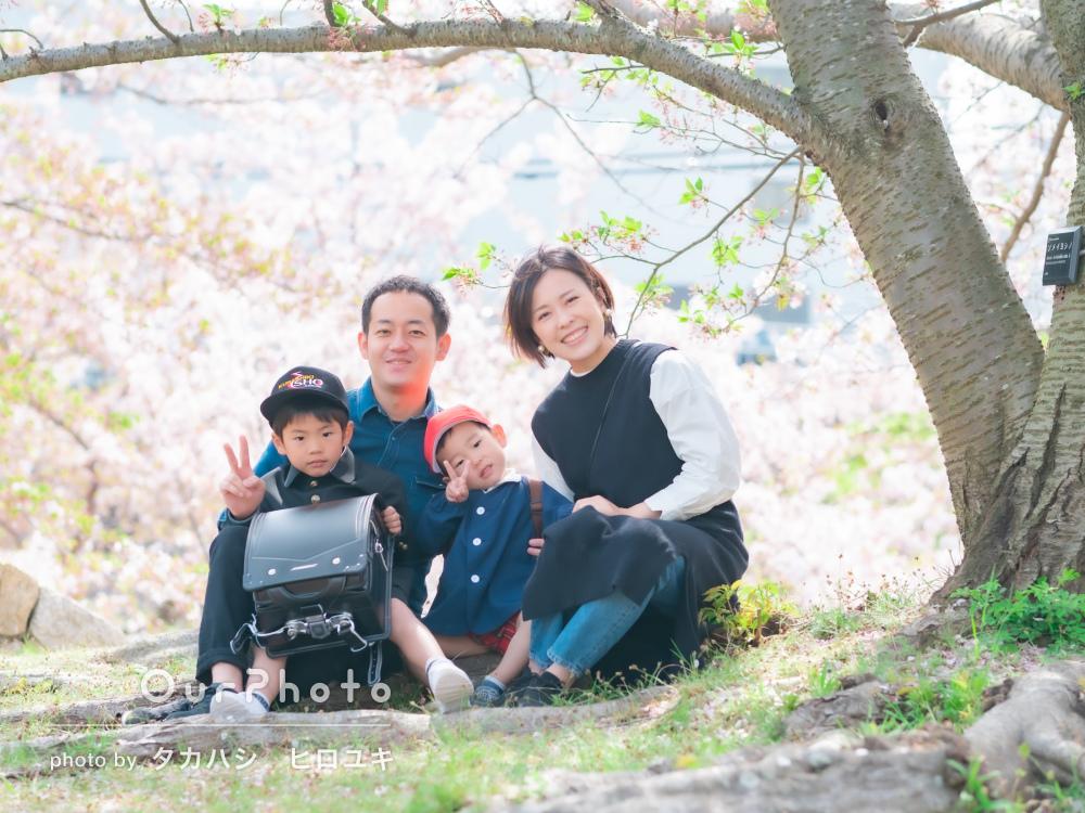「家族で自然体での写真を残す事が出来、とても嬉しい」家族写真の撮影
