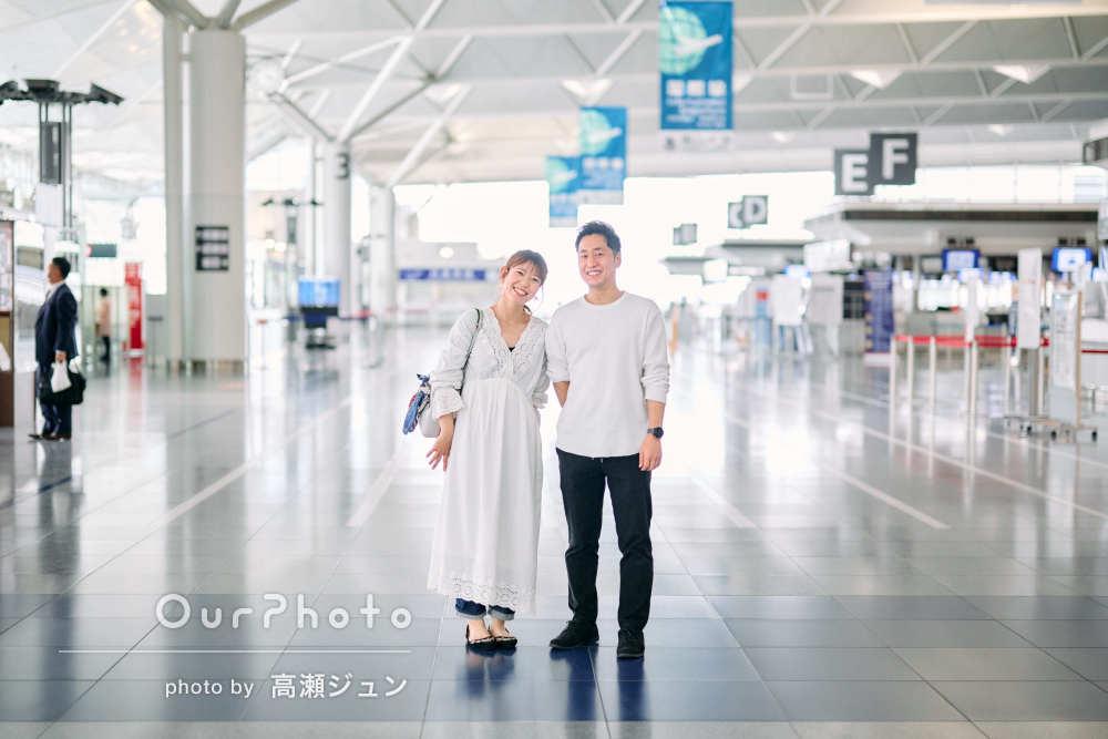「どれもすごく素敵な写真で大満足です!」空港で夫婦の記念撮影