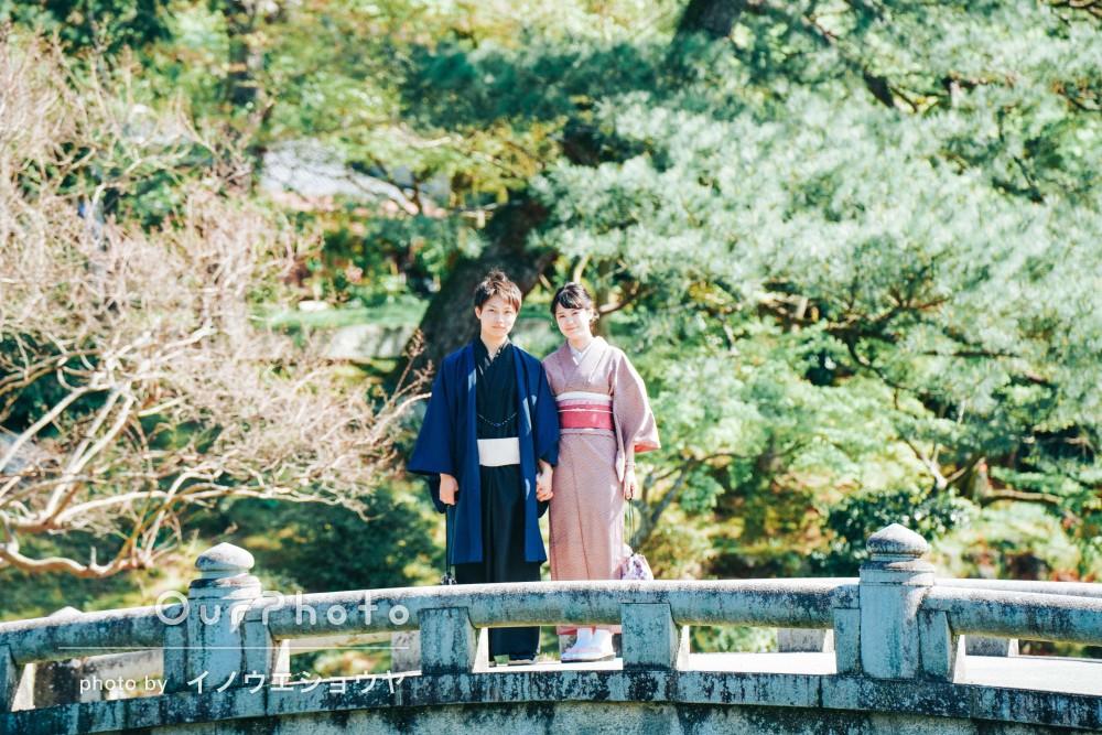 京都の街を着物姿で散策!自然体で温かみのあるカップルフォトの撮影