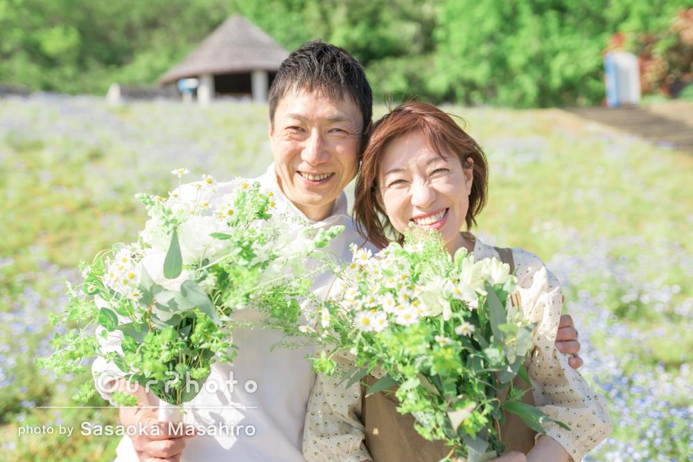 「素敵な写真をたくさん撮っていただき感激」結婚記念日に家族写真の撮影