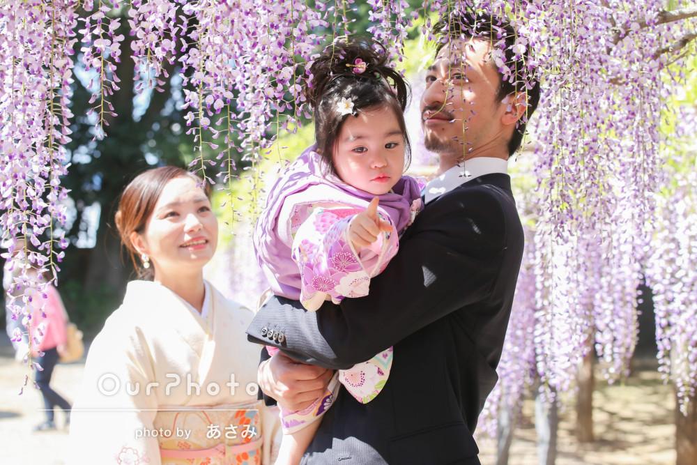 「娘の可愛いショットや親子での幸せそうなショットが沢山」七五三の撮影