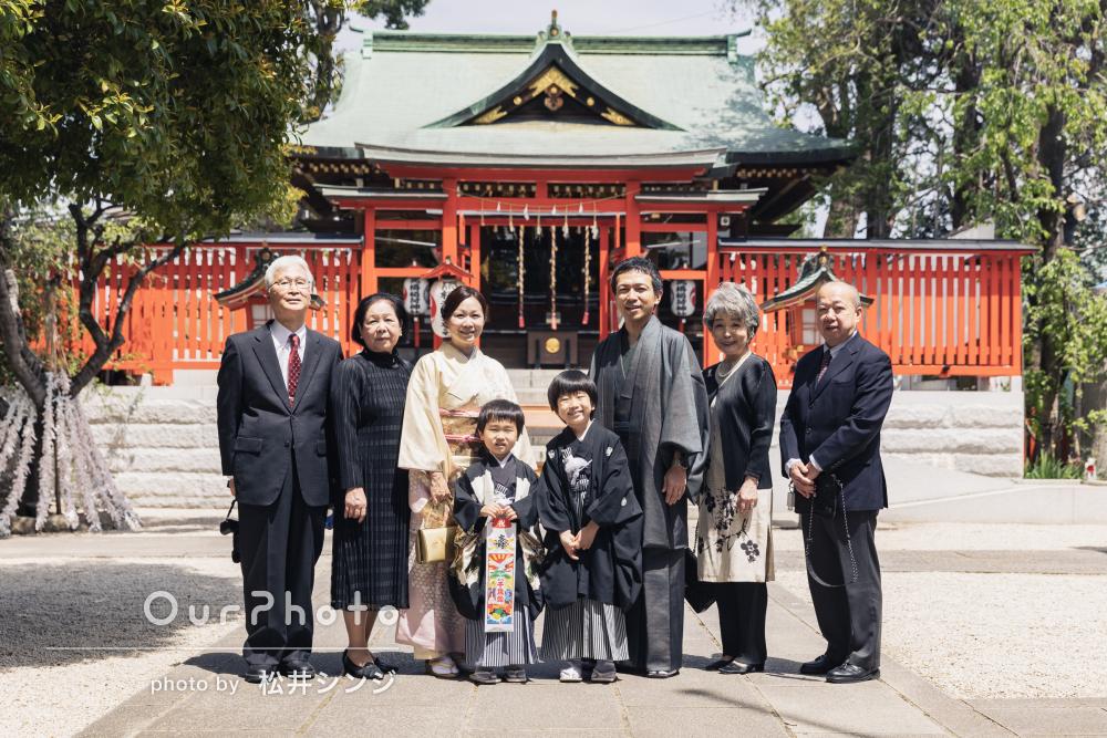 「家族のとても良い記念」ご家族そろっての和装が素敵な七五三の撮影