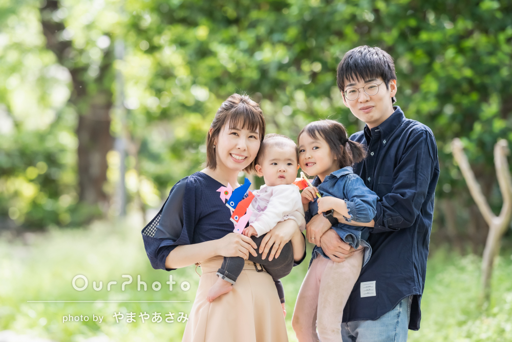 「一瞬をとらえる巧さが感動レベル」笑顔がきらきらと輝く家族写真の撮影