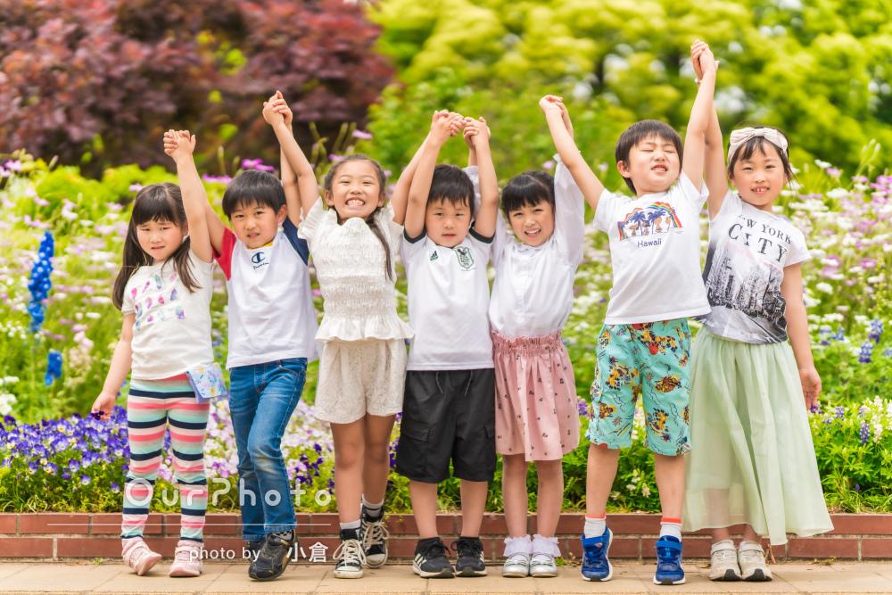 「写真が本当に素敵で驚きました」友達7人で小学校入学記念の写真撮影