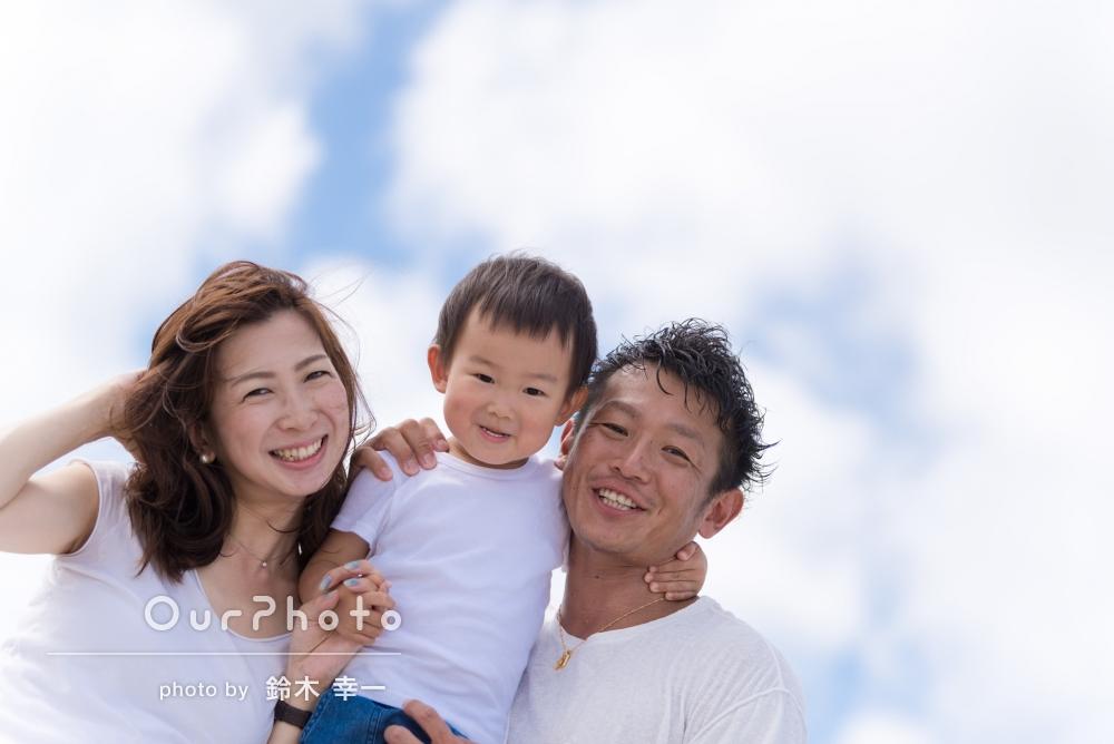沖縄のビーチで!笑顔満開の家族写真とマタニティフォトの撮影