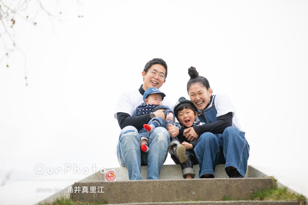 「宝物の写真になりました」笑顔がとっても素敵な家族写真の撮影