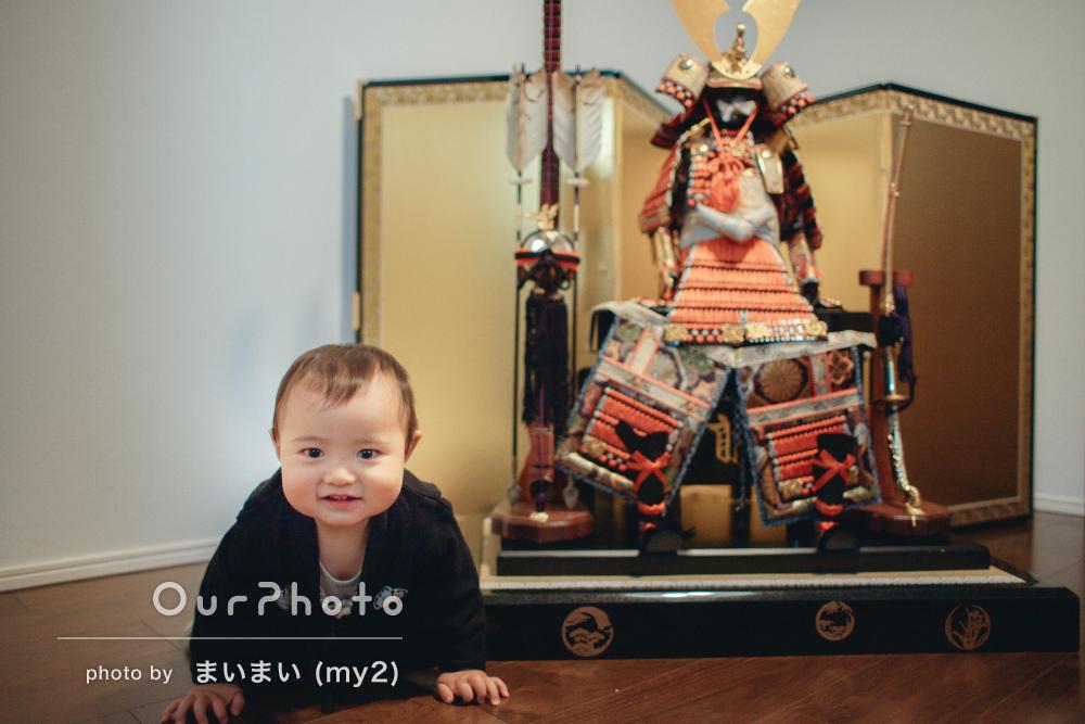 「仕上がった写真にとても満足しています」ニコニコ笑顔の家族写真撮影