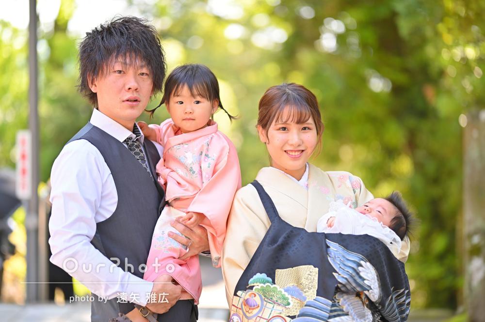 「温かい家族写真をとれて満足です」ご家族そろってお宮参りの撮影
