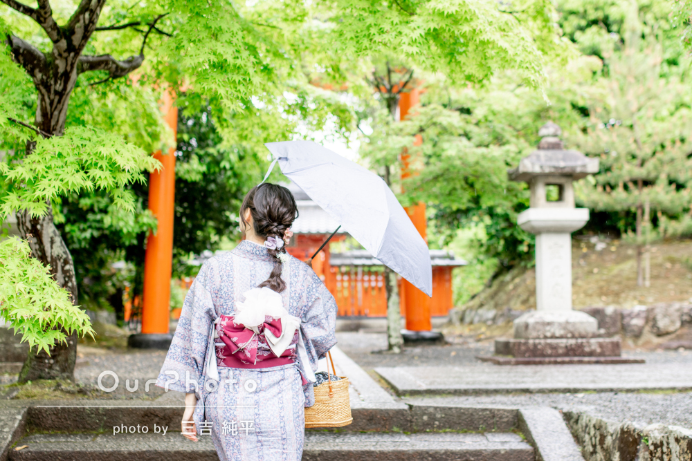 「イメージ通りの写真を撮っていただけました」雨の日に旅行写真の撮影