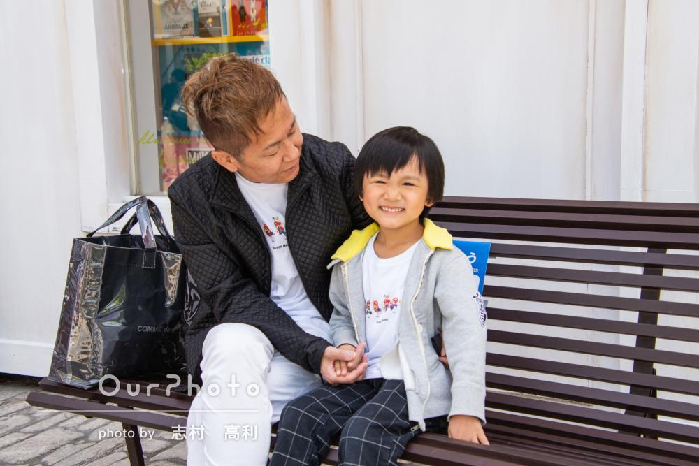 「6歳の息子も打ち解けて楽しみながら撮影が出来ました」家族フォト撮影