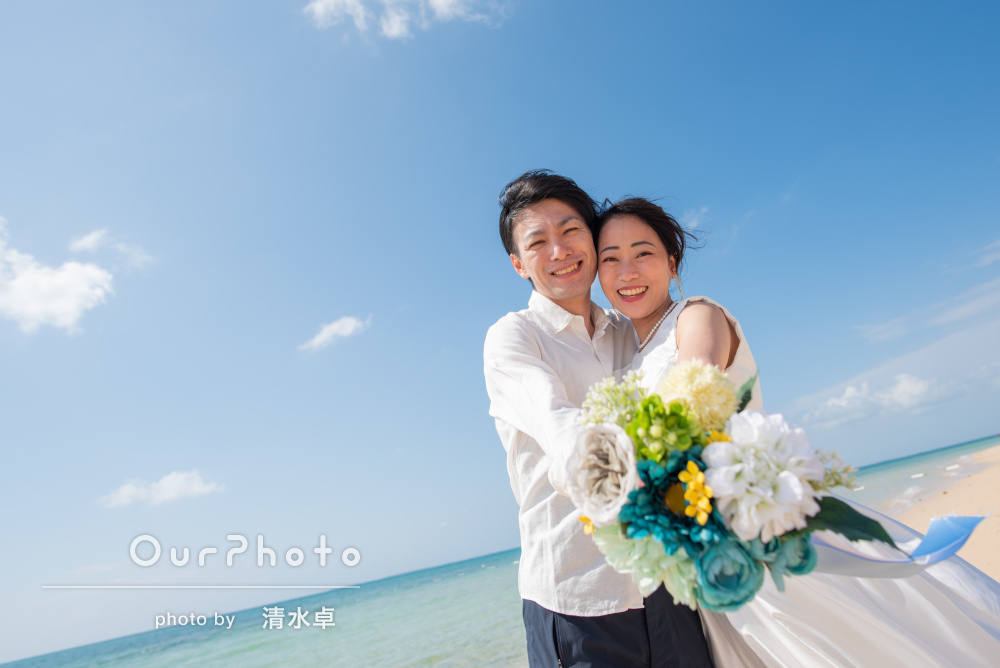 「新婚旅行の楽しい思い出を素敵な写真で形に」カップルフォトの撮影